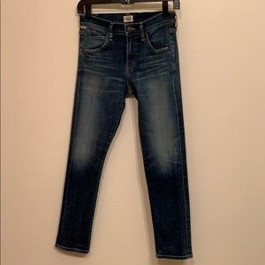 Citizens of Humanity distressed ankle length jeans